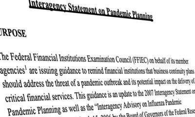 FFIEC Guidance on Pandemic Preparedness
